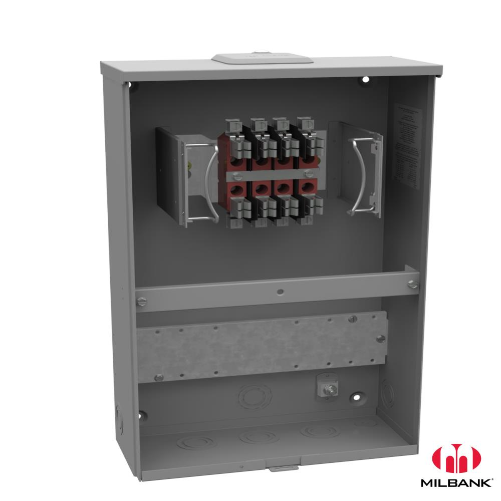 MLB UC3428-XL 20A 8T RL TS PROV OU TRANSFORMER RATED METER SOCKET, RINGLESS; LIGHT GRAY ELECTROSTATICALLY APPLIED POWDER PAINTED AISI G90 GALVANIZED STEEL; SERVICE TYPE OVERHEAD/UNDERGROUND; 600 VAC; 20 AMPERE; 8 JAW(S); CP HUB; WIRE SIZE 14 TO 4 AWG (COPPER); NEMA 3R