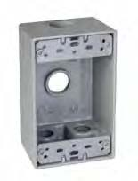 TMAC SB450 1 GANG OUTLET BOX 4 HOLE 1/2