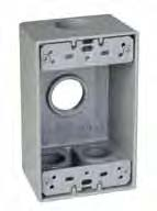 TMAC SB475 1 GANG OUTLET BOX 4HOLE 3/4