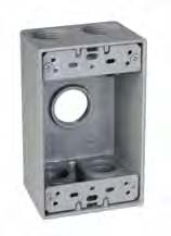 TMAC SB575 1 GANG OUTLET BOX 5 HOLE 3/4