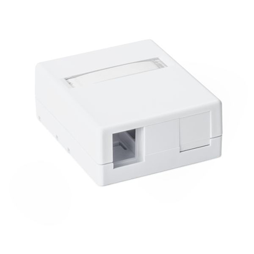 HT SMBDUAL-W Two port surface mount box - White