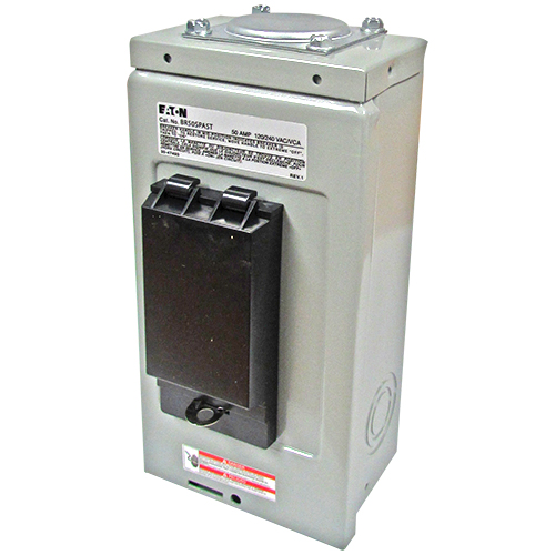 CUT BR50SPAST SPA PANEL,2P 50A BR GFI BREAKER FACTORY INSTALL,GF SELF TEST