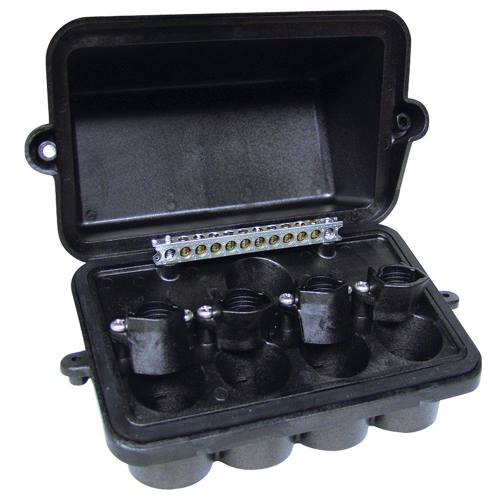 INT PJB4175 PLASTIC POOL/SPA LIGHT JUNCTION BOX - FOUR LIGHT CAPACITY W/CONDUIT SIZES FROM .5