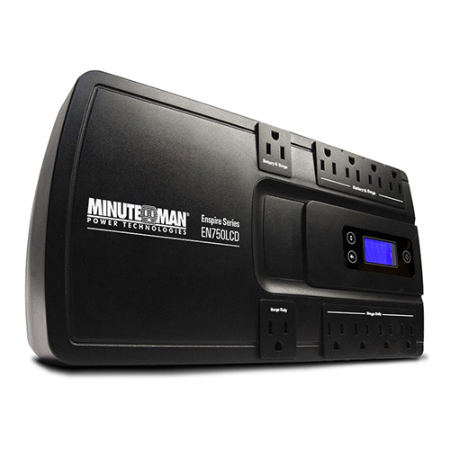 MINUTEMAN EN750LCD ENSPIRE 750VA STAND-BY UPS 10 OUTLETS
