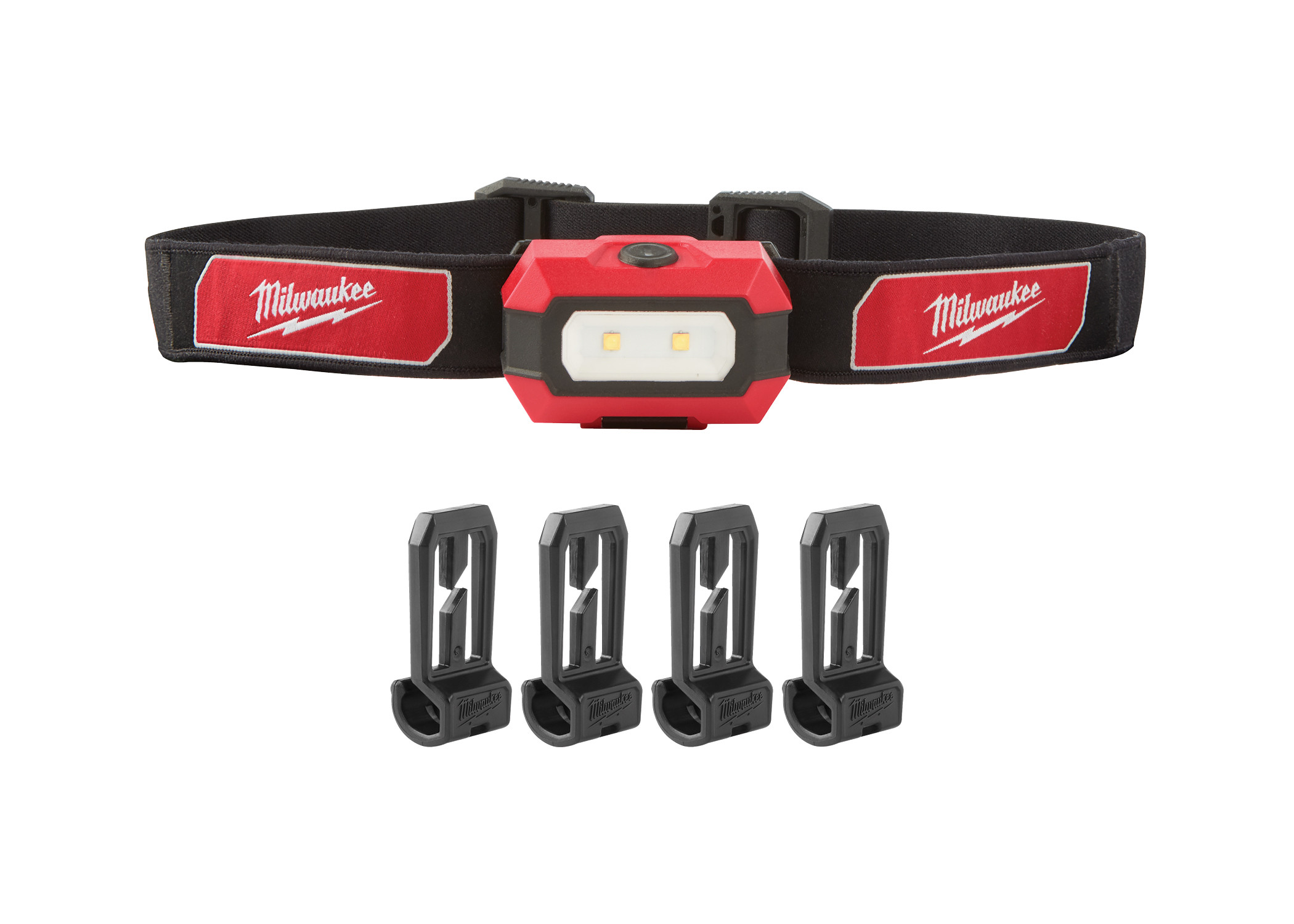 MIL 2103 Includes: Headlamp, Strap, Hard Hat Clips, (3) AAA Batteries