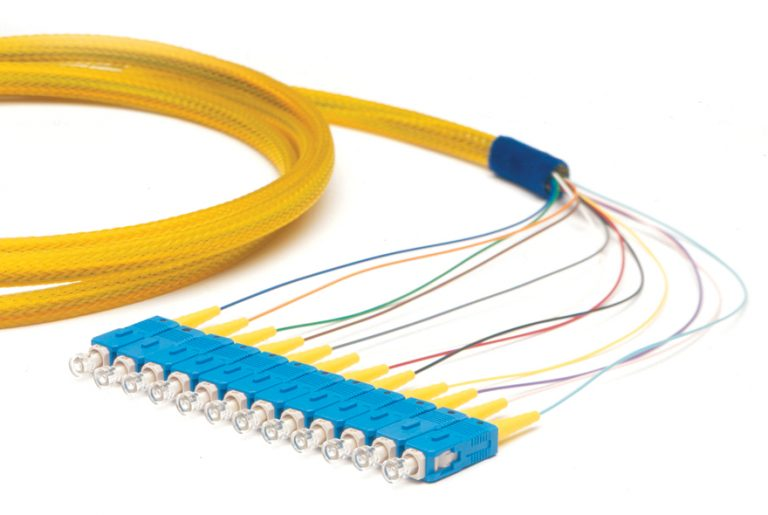 OCC P6LC12-3M, MM62.5 3METER 12F LC PIGTAIL