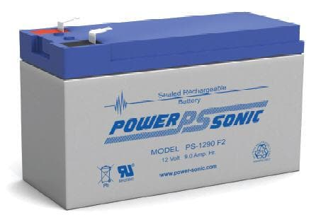 PSG PS-1290F2 12V 9AH SEALED RECHARGEABLE BATTERY, F2 TERMINALS