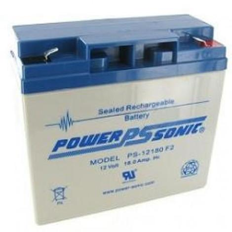 PSG PS-12180F2 12V 18AH SEALED RECHARGEABLE BATTERY, F2 TERMINALS