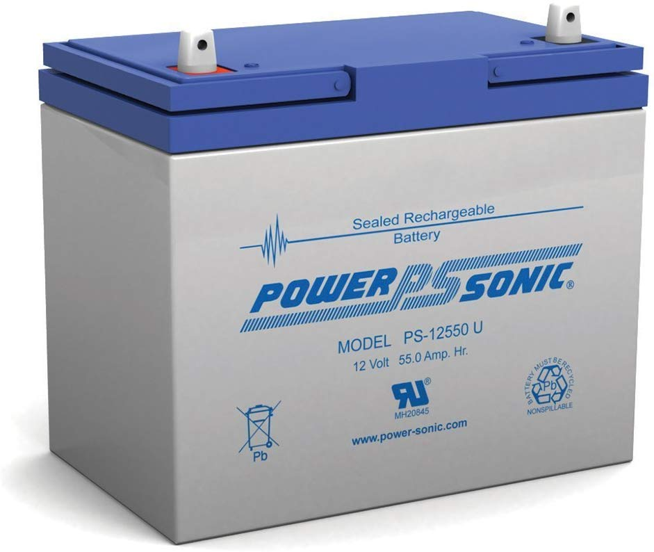 PSG PS-12550U 12V 55AH SEALED RECHARGEABLE BATTERY, UNIVERSAL
