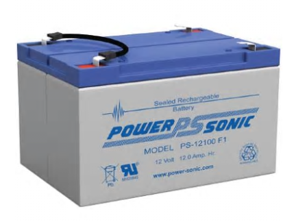 PSG PS-12100F2 12V 12AH SEALED RECHARGEABLE BATTERY, F2 TERMINALS