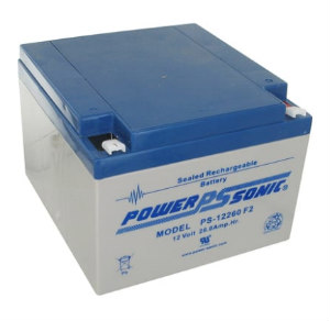 PSG PS-12260F2 12V 26AH SEALED RECHARGEABLE BATTERY, F2 TERMINALS